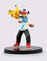 Pocket Monster Ash Ketchum And PIKA PVC 15cm Anime Action Figures Model Toys Doll Toy