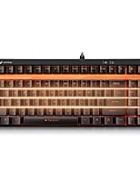 игровой клавиатуры механические клавиатуры Rapoo v500s подсветкой черный вал программируемые 87keys нет конфликта