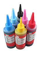 enchimento de tinta da impressora (6 cores agregação preto 100ml amarelo 100ml luz azul 100ml azul 100ml luz vermelha 100ml vermelho