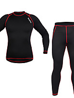 Sports Cycling Base Layer Men's Long Sleeve Breathable / Thermal / Warm / Windproof / Lightweight Materials