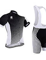 Sports Cycling Jersey with Bib Shorts Men's Short SleeveBreathable  Quick Dry Anatomic Design