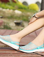 Women's Sandals Summer Slingback Rubber Casual Flat Heel Others Blue / Yellow / Pink / Purple Others