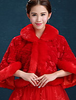 Soirée Mélange de Coton Femme Écharpe,Géométrique Rectangle,Rouge / Blanc