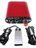Solong tatuaje fuente de alimentación de la mini tatuaje con cable de clip de pedal para p162-2 kit de la máquina