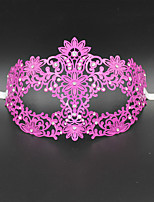 Laser Cut Metal Venetian Masquerade Mask for Women with Crystals2007B1