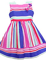 Girls Dress Colorful Striped Cute Party Birthday Casual Baby Children Clothes