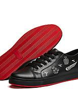 Черный Белый Бордовый-Мужской-Повседневный-Полиуретан-На плоской подошве-Оригинальная обувь-Кеды