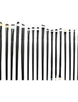 20 Makeup Brushes Set Synthetic Hair Professional / Portable Wood Face / Eye / Lip