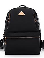 Casual Shopping Backpack Women Nylon Black