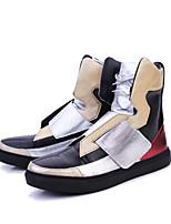 Men's Fashion Boots PU Outdoor / Party & Evening Flat Heel Slip-on Black / Silver WalkingEU39-43