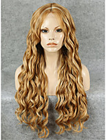 IMSTYLE 26''Beautiful Heavy Density Long Wave Mix Blonde Synthetic Lace Front Wig Cheap