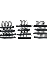 20pcs Lot Wig Making Combs and Clips For Wig Cap Black Color Wholesale Wig Accessories