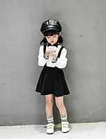 Girl's Casual/Daily Solid Dress / Clothing SetCotton Spring / Fall White