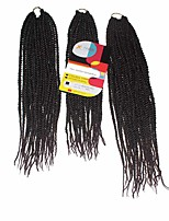 Senegal Twist  T1b/33 Synthetic Hair Braids 18inch 20inch 22inch Kanekalon 81 Strands 200g  Multipal Pack for Full Heads