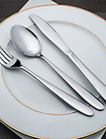3-Piece Slap-Up Western Restaurant The Kitchen Utensils Stainless Steel Dinner Fork Dinner Knife Spoons  Forks Knives