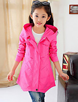 Girl's Casual/Daily Solid Suit & BlazerCotton Winter / Fall Blue / Orange / Pink