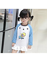 Girl's Casual/Daily Print DressCotton Spring / Fall White