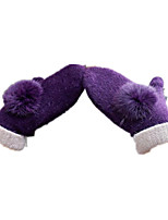 Even A Thickened Knitted Gloves (Purple Rabbit Ball)