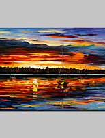 Sunset Seaside Scenery Hand Painted Knife Oil Painting On Canvas Wall Art Picture For Home Decoration Ready To Hang