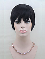 100% Human Hair Short Wigs For Black Women Short Capless Wigs