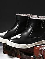 Men's Boots Comfort PU Casual Black Blue Brown