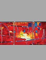 Handpainted oil Paintings Abstract Red Wall Art Home Decor Stretchered Frame Ready to Hang