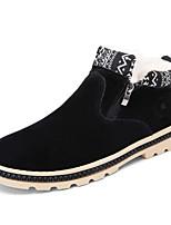 Черный Синий Желтый-Мужской-Повседневный-Дерматин-На плоской подошве-Удобная обувь Теплая зимняя обувь-Ботинки