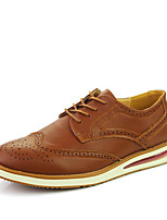 Men's Oxfords Spring Summer Fall Winter Comfort Leather Wedding Office & Career Party & Evening Black Brown White