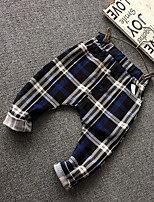Boy's Casual/Daily Check PantsCotton Spring / Fall Blue / Red