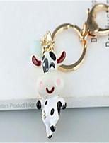 keychain pequeno bonito carro de vaca