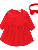 Baby Casual/Daily Solid Clothing Set-Cotton-Spring / Fall-Red / Yellow