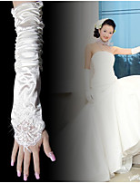 Elbow Length Fingerless Glove Tulle Bridal Gloves Spring Summer Fall Winter Pleated lace