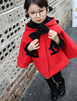 Girl's Casual/Daily Solid Down & Cotton PaddedCotton Winter / Fall Red