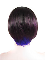 IMSTYLE 8''Heat Resistant Purple Mix Color Short Bob Synthetic Wig Lace Front