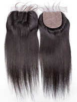 4x4 Closure Straight Remy Hair Closure Medium Brown Swiss Lace about 30g gram Average Cap Size