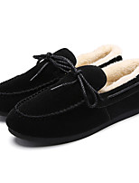 Women's Loafers & Slip-Ons Spring / Fall Comfort PU Casual Flat Heel Slip-on Black / Brown / Red / Gray Sneaker