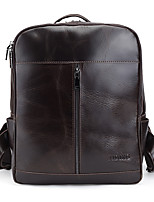 Sports Casual Outdoor Office & Career Backpack Unisex Cowhide Brown