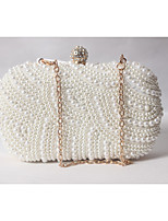 Women Satin Formal / Event/Party / Wedding Evening Bag/Pearl Clutch/Pearl Diamonds Delicate Handbag