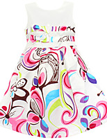 Girls Abstract Pint Flower Two Bow Party Pageant Birthday Kids Clothes Dresses