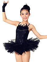 Dresses Performance Spandex / Sequined Paillettes / Feathers /Fur / Sequins / Tiers 4 Pieces Ballet Sleeveless High