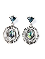 European Luxury Gem Geometric Earrrings Exaggerated Micro Insert Drop Earrings for Women Fashion Jewelry Best Gift
