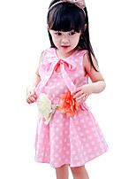 Girl's Casual/Daily Polka Dot DressCotton Summer Pink / Yellow