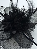 Women's Feather / Tulle / Net Headpiece-Wedding / Special Occasion / Casual Fascinators 1 Piece