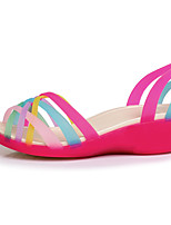 Women's Sandals Summer Comfort PU Casual Wedge Heel Others Blue / Yellow / Red / Fuchsia / Orange Others