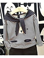 Boy's Casual/Daily Striped Hoodie & Sweatshirt / Clothing SetCotton Spring / Fall Gray