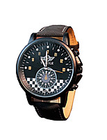 324 YAZOLE Fashion Men's Business Dress Watch Leather Strap Blue Ray Glass Analog Quartz Wrist Watches