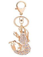 креветки и золото бриллиант кулон брелок для ключей автомобиля