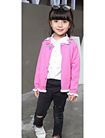 Girl's Casual/Daily Solid Sweater & CardiganWool Winter / Spring / Fall Pink / Red