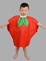 Kid Halloween Christmas Fruit Vegetable Apple Banana Printed Costume Cosplay Dress Hat Suits