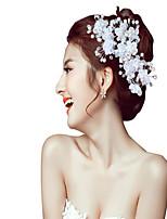 Mulheres Pérola Capacete-Casamento Ocasião Especial Flores 1 Peça